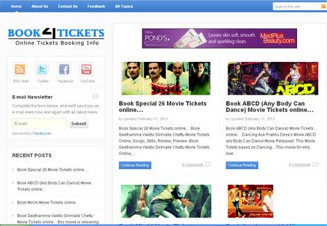 Online Tickets Booking Information